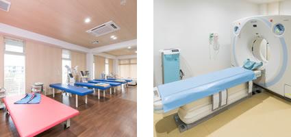 リハビリ室、X線・CT室