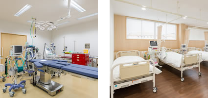 救急室、病室